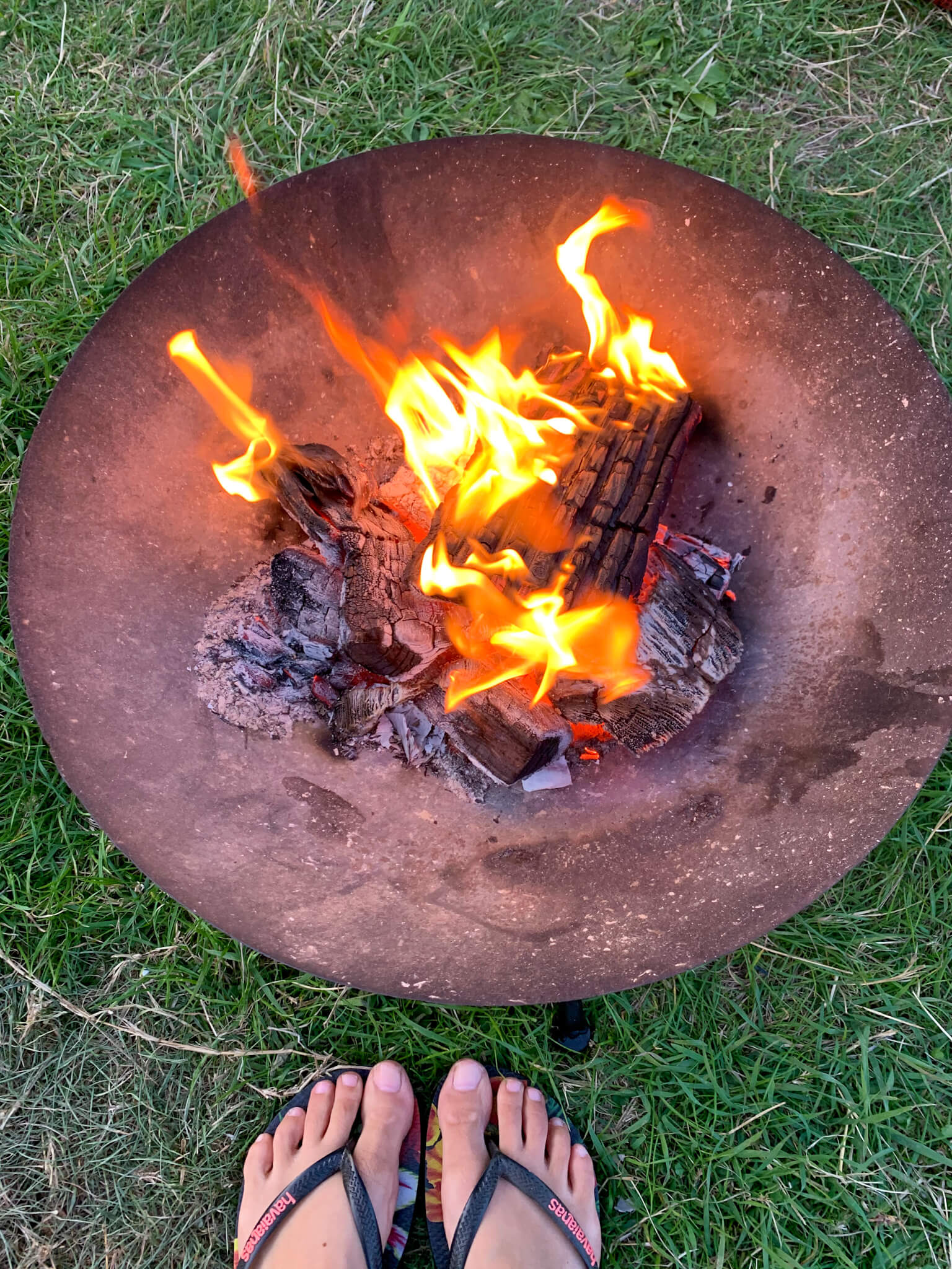 Campfire, Hurst View Campsite, Lymington