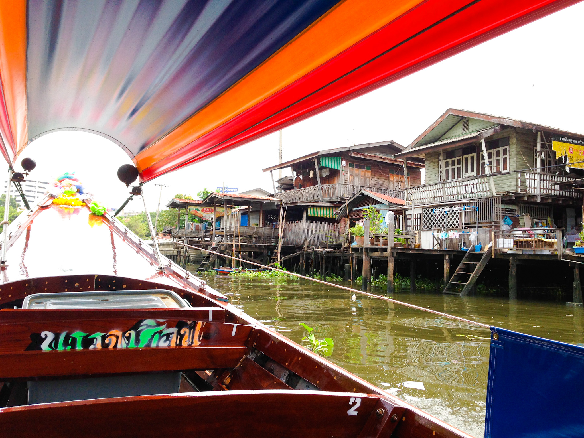 Exploring the Chao Phraya River by longtail boat in Bangkok